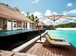 Exotic retreat: The Royal couple are staying at the ultra-exclusive Cheval Blanc Randheli resort
