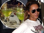 Drowning your sorrows? Mel B tweets picture of cocktails during 'big night' after her radio show comes bottom in the ratings