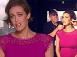 Megan Gale shows off her growing baby bump in magenta form-fitting dress as she slams rumours she had trouble conceiving with younger boyfriend