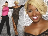 Nene Leakes, 46, sizzles in cleavage baring dress with thigh-high split as she prepares for DWTS debut