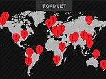 The interactive map, by Hertfordshire- based Driving Experiences is based upon the World Health Organisation's (WHO) global status report of 2013 on road safety as well as other data sets. Users can click on 22 locations to view the most dangerous roads