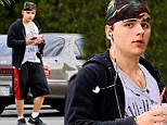 Trying to get ripped? Prince Jackson was seen leaving a gym in Los Angeles on Monday