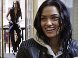 Taking the plunge: : Shanina Shaik rocks a sexy androgynous look in a new photo shoot of Harper's Bazaar Australia