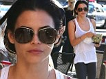Healthy eating: Jenna Dewan Tatum seemed to give a clue as to how she maintains her figure as she picked up a salad for lunch in Hollywood on Monday