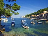 Sun spot: Croatia is famed for its miles of coastline and pretty islands