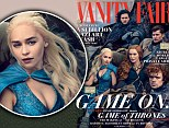 Emila Clarke, Kit Harington and Peter Dinklage join their castmates on the cover of the glossy magazine, which features a series of photos of the stars by the photographer Annie Leibovitz.