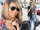 Taking it in her stride! Ashanti is all smiles in Beverly Hills as her alleged stalker is escorted out of a New York courtroom after ranting at judge