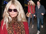 Date night: Claudia Schiffer and Matthew Vaughn are spotted walking hand in hand through London
