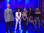 Up late: Little Mix look pleased after they performed their hit single, Move, on The Late Show with David Letterman