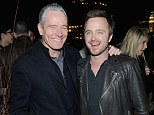 Breaking Bad besties: Bryan Cranston dashed from a performance of his new Broadway play All The Way to support former co-star Aaron Paul at the New York premiere of his film Need For Speed on Tuesday night