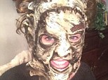 It's not Halloween! Ireland Baldwin posts 'leather face selfie' as she poses in creepy mask complete with fake curly hair