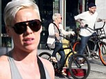 Pink and husband Carey Hart enjoy an afternoon's bike ride together