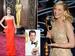 Women are still only taking as many speaking roles in major films as they did in the 40s, according to a recent study, which shows that despite the recent victories and accolades lauded upon actresses like Cate Blanchett and Jennifer Lawrence (pictured), Hollywood films are overwhelmingly dominated by men like Oscar winner Matthew Mcconaughey (inset). Many films only show women in secondary or minor roles, while many films only feature women in non-speaking roles