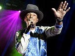Room without a roof: Pharrell Willliams performed at the Riverstage in Brisbane on Wednesday night