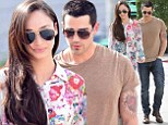In full bloom! Cara Santana is ready for Spring in classy floral shirt as she lunches with well sculpted fiance Jesse Metcalfe
