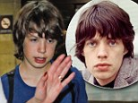 Lucas is the spitting image of father Mick Jagger