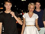Who needs bodyguards? Pamela Anderson led the pack as she took her sons Brandon and Dylan out to Crossroads Kitchen in West Hollywood, California on Tuesday