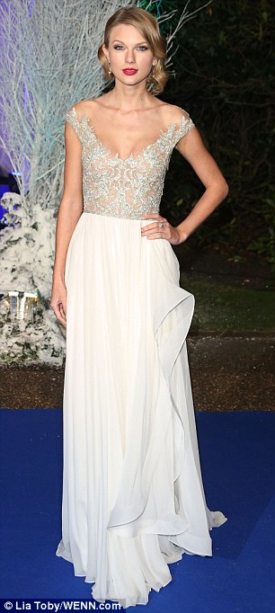 Belle of the Ball: Popstar Taylor Swift at the Winter White Gala dinner at Kensington Palace in November