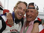 Stake: Jenson Button lost his father John Button in January after he died at his house near Monte Carlo