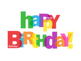 """""""HAPPY BIRTHDAY"""" Letter Collage (card message congratulations)"""