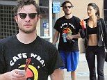 Working out well? Ed Westwick hits the gym with stunning mystery woman before the pair pick up healthy juices together