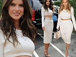 Double take! Alessandra Ambrosio wears a VERY tight curve-hugging dress... that Kim Kardashian modeled three months ago