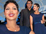 Ready for the spotlight! Toni Braxton is sexy in blue as she returns to Broadway with Kenny 'Babyface' Edmonds