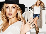 'So fresh and unique!' Kate Hudson shows off her slender legs as she models stylish and affordable new collection