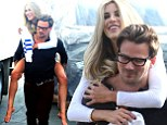 Sean Stewart,33, ditches his toy boy tag and puts his hands all over breathtaking model Brittany Cole,25