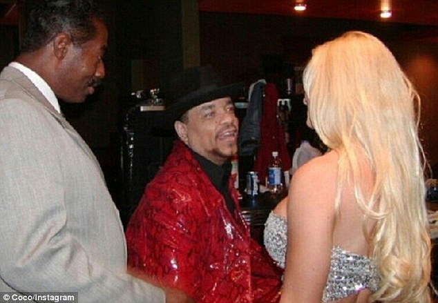 Sparks: The burlesque queen also shared this earlier photo of the starry-eyed moment she met Ice T more than a decade ago