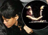 Cheeky: Rihanna entered the men's toilets at Zouk restaurant in Manchester before pushing a man out