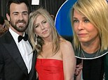 Jennifer Aniston's fiancé Justin Theroux thinks her best friend Chelsea Handler is 'obnoxious and using her for fame'