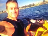 Action man: Grant Denyer looked back to his best jet skiing on Saturday post recent allegations of a drug addictions