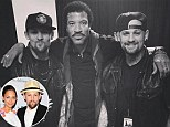 The Madden twins were backstage with Lionel Richie before his Sydney show on Thursday night