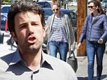 Missing her already! Ben Affleck looks grumpy after Jennifer Garner leaves before him with girlfriends after lunch