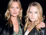 Model sisters: Kate, 40, and Lottie, 16 attend the Topshop Unique show at London Fashion Week AW14 at Tate Modern last month
