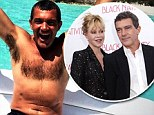 Melanie Griffith tweets shirtless snap of husband Antonio Banderas on their sunny holiday in the Bahamas