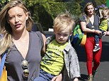Mommy and me! Hilary Duff stepped out with her son Luca who will be two on March 20, to a class in Los Angeles on Thursday