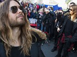 'There's no price too high to pay for the privilege of owning yourself': Jared Leto visits memorial in embattled Ukraine after dedicating concert to protestors