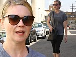 Make-up free Kirsten Dunst ditches the glamour as she hits the gym in workout gear