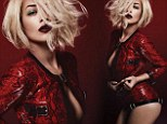 Smouldering: Rita shared the cover artwork for her new single I Will Never Let You Down