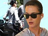 Moving on! Katy Perry focuses on fitness and shows off pert derrière in Lycra gym gear after 'splitting with John Mayer'