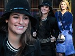 Glee stars Lea Michele and Dianna Agron show off their winter style as they both hit the streets of New York in big warm coats