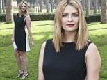 Beautiful bella Barton: Actress Mischa wears figure flattering shift dress showing off toned pins at Hope Lost photo call