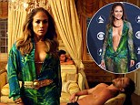'Still J.Lo from the-the the block': Jennifer Lopez turns back time in I Luh Ya Papi video wearing outfit similar to iconic Grammys plunging Versace dress