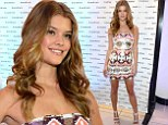 Simply dazzling! Victoria's Secret model Nina Agdal shines in tiny sequinned dress at Miami sunglasses launch