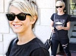 Julianne Hough emerged with hair clippings