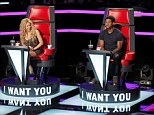 """THE VOICE -- """"Blind Auditions"""" -- Pictured: (l-r) Shakira, Usher, Adam Levine, Blake Shelton -- (Photo by: Trae Patton/NBC/NBCU Photo Bank)"""