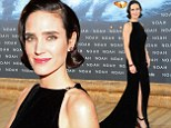 The Hot Spot! Jennifer Connelly steps out in elegant thigh-split gown with 1920s hair 'do for Berlin premiere of Noah
