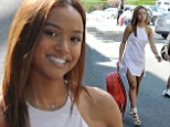 Looking good is the best revenge! Karrueche Tran sizzles in little white dress while ex-boyfriend Chris Brown stews in jail